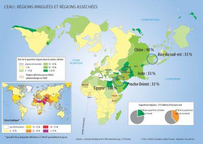 Régions irriguées et régions asséchées